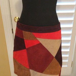 Genuine leather skirt from Boston Proper 🔥